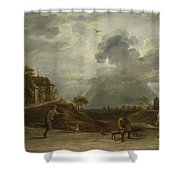 Peasants At Archery  Shower Curtain