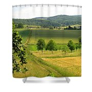 Photograph Of A Field In Germany Shower Curtain