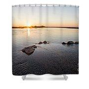 Platte River At Dusk Shower Curtain
