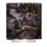 Rocks In The Forest  Shower Curtain