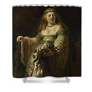 Saskia Van Uylenburgh In Arcadian Costume  Shower Curtain