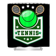 Tennis Player Tennis Racket I Love Tennis Ball Shower Curtain