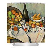 The Basket Of Apples Shower Curtain