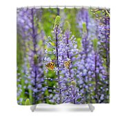 The Couple Shower Curtain by Arik Baltinester