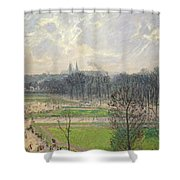 The Garden Of The Tuileries On A Winter Afternoon  Shower Curtain