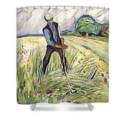 The Haymaker  Shower Curtain