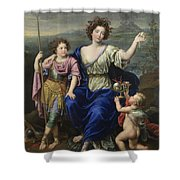 The Marquise De Seignelay And Two Of Her Sons  Shower Curtain