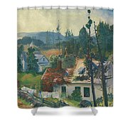 The Red Vine  Matinicus Island  Maine  Shower Curtain