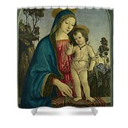 The Virgin And Child  Shower Curtain