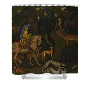 The Vision Of Saint Eustace  Shower Curtain