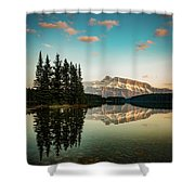 Two Jack Lake And Mount Rundle Shower Curtain