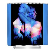 uNreaL light work phase 2 Shower Curtain