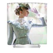 Victorian Woman In The Garden Shower Curtain