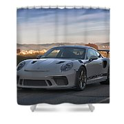 #porsche 911 #gt3rs #print Shower Curtain by ItzKirb Photography