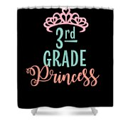 3rd Grade Princess Adorable For Daughter Pink Tiara Princess Shower Curtain