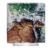 Aerial View Of The Beach, Newport Shower Curtain
