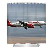 Avianca Airbus A320-233 Shower Curtain