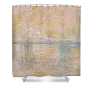 Charing-cross Bridge In London -  Shower Curtain