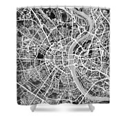 Cologne Germany City Map Shower Curtain