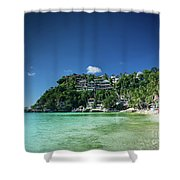 Diniwid Resort Beach View In Tropical Paradise Boracay Island Ph Shower Curtain