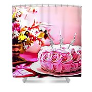 4 Eat Me Now  Shower Curtain