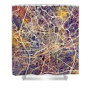Frankfurt Germany City Map Shower Curtain