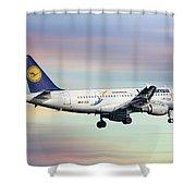 Lufthansa Airbus A319-114 Shower Curtain