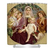 Madonna Of Giverny  Shower Curtain