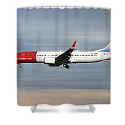 Norwegian Boeing 737 Max 8 Shower Curtain