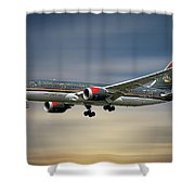 Royal Jordanian Boeing 787-8 Dreamliner Shower Curtain