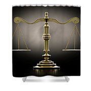 Scales Of Justice Dramatic Shower Curtain