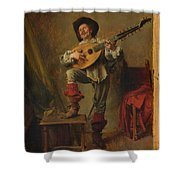 Soldier Playing The Theorbo  Shower Curtain