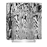 Stained Wood Siding Shower Curtain
