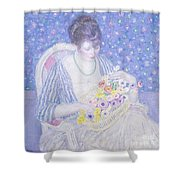 The Basket Of Flowers Shower Curtain