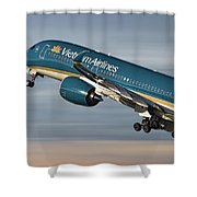 Vietnam Airlines Airbus A350 Shower Curtain