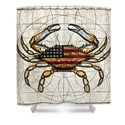 4th Of July Crab Shower Curtain