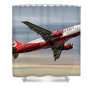 Air Berlin Airbus A319-112 Shower Curtain