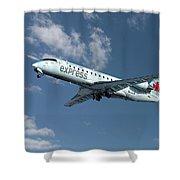 Air Canada Express Bombardier Crj-200er Shower Curtain