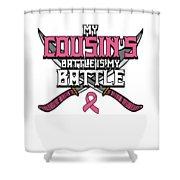 Breast Cancer Awareness Art For Warrior Women Light Dark Shower Curtain