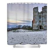 Donnington Castle - England Shower Curtain