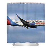 Jet2 Boeing 737-33v Shower Curtain