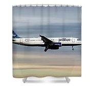 Jetblue Airways Airbus A320-232 Shower Curtain
