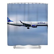 Jetblue Airways Embraer Erj-190ar Shower Curtain