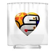 Love Heart Shower Curtain