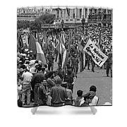 60th Anniversary Of Russian Socialist October Revolution Shower Curtain