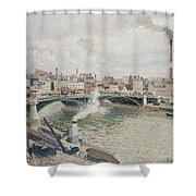 Morning  An Overcast Day  Rouen  Shower Curtain