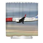 Norwegian Boeing 737 Max 8 Shower Curtain