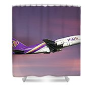 Thai Airways Airbus A380-841 Shower Curtain