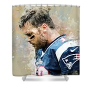 Tom Brady.new England Patriots. Shower Curtain