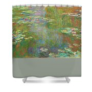 Water Lily Pond Shower Curtain by Claude Monet